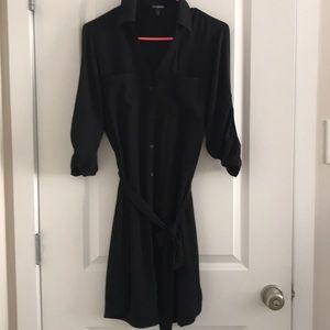 Express Button Down Tie Dress